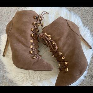 Size 7.5 brown liliana booties